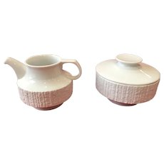 Thomas Rosenthal Arcta White Bisque Creamer Sugar bowl Set