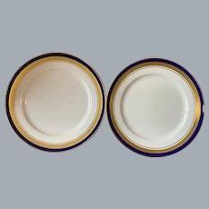 Aynsley Cobalt Royale pattern salad plates