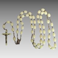 Luminous glow in the dark vintage plastic rosary from Italy- vintage and long