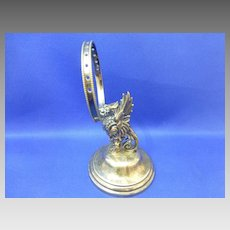 PEGASUS antique French  cocktail pick toothpick holder