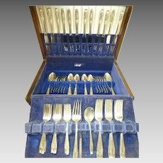 Wallace sterling silver STRADIVARI 65 pcs set cutlery-12 place settings + box