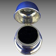 Birks regency plate ring box- black velvet lining -1950's