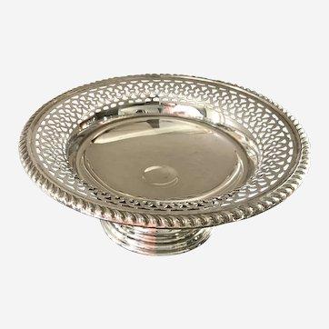Vintage Birks sterling silver pedestal dish- compote