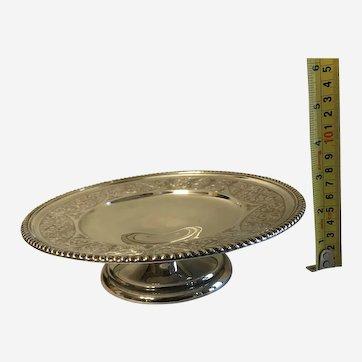 Large vintage pedestal dish compote Birks sterling silver