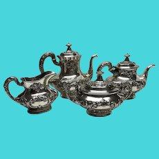 Vintage Birks Gorham sterling silver 4 piece Buttercup Tea set