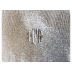 2 Vintage white hand towels monogrammed