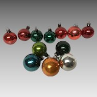 Box of 12 vintage  glass Christmas ornaments