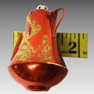 3 vintage glass Christmas tree ornaments, strawberry,teapot,Sputnik