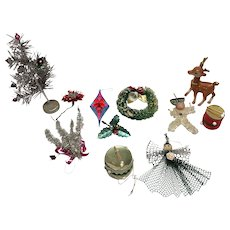 11 vintage Christmas from the '50's -wreath- bamby- tree-drum-ornament-angel