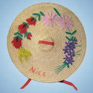 Doll Hat from Nice, FRANCE!