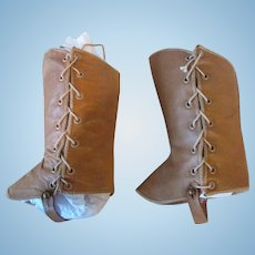 Snazzy Leather Gaiters for French Bebe or German Character Doll!