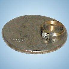 TINY Faux Diamond Ring for Your Doll!