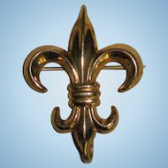 French Fleur de Lis Watch/Pendant Brooch!