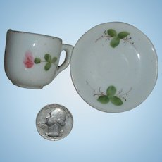 Little CLOVER Blossom Teacup and Saucer from France!