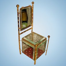 INCREDIBLE French Vitrine in Faux Bamboo Chair Style!