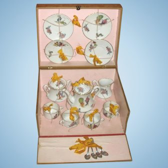 Rare ORIENTAL/ASIAN French (made in Paris) Tea Service for Your Oriental Bebe!
