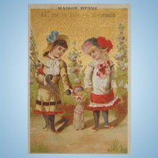 RARE French Fashion Doll Trade Card!