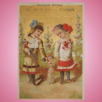 RARE French Fashion Doll Trade Card!