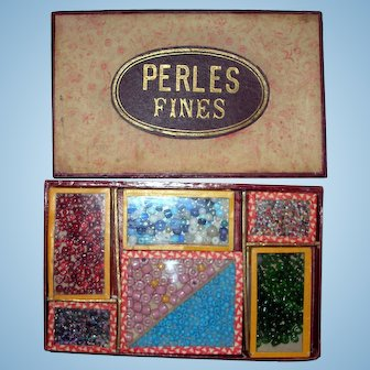 1880's French GLASS Beads for Doll Jewelry!
