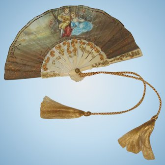 1870's French Fashion Doll INCREDIBLY Rare Fan!