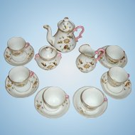Circa 1860 Porcelaine de Paris DOLL Tea Set
