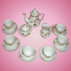 Circa 1860 Porcelaine de Paris DOLL Tea Set