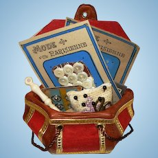 Miniature MOP French Buttons for Doll Etui