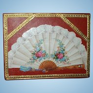 Antique French Fan Presentation Box