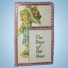 Miniature Antique Calendar for Doll Scene