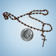 Tiny French DOLL Rosary for Your Antique Doll