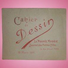 Rare La Poupee Modele Coloring Book Magazine Insert March 1900