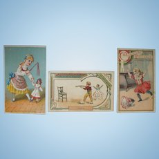 Dolly Disasters!  Antique French Trade Cards to Unnerve Any Doll Lover!