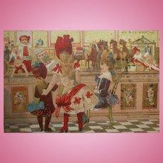 Au Bon Marche Trade Card from Paris