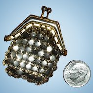 Tiny Antique French Gold Mesh Doll Purse