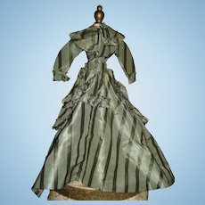 ANTIQUE French Fashion Doll Caped Gown! Holiday Sale!