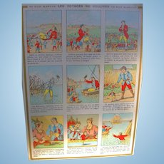 Large Au Bon Marche FRENCH version Fairy Tale Trade Card Gulliver's Travels