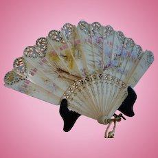 Bone Brise French Doll Fan