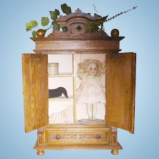 Antique French Doll Armoire