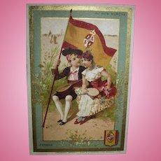 SPAIN Au Bon Marche Antique Trade Card