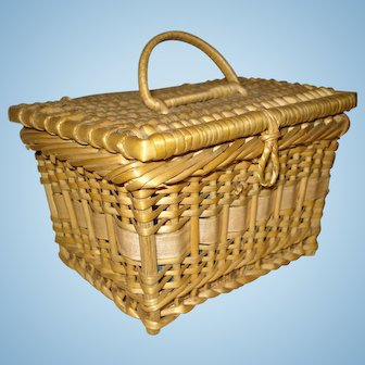 Miniature FRENCH Sewing Basket for Your Doll