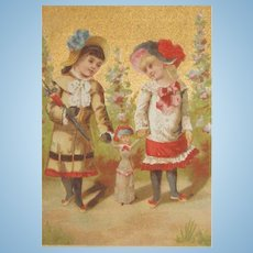 FF Doll Rare Antique French Trade Card