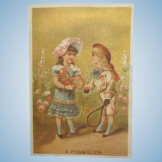Antique French Doll Trade Card