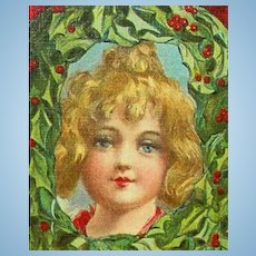 Antique Postcard With Lovely Little Girl