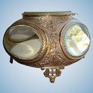 Elegant Hollywood Regency Jewel Casket