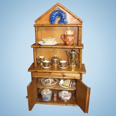 French Faux Bamboo Doll Hutch w/ Bonus!