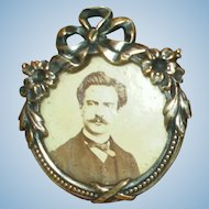 Antique French Photo Brooch for Your French Fashion Doll