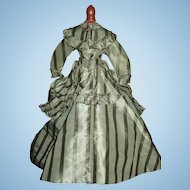 Fabulous Antique French Fashion Doll Dress