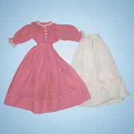Two-piece Dress & Petticoat from England