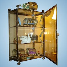 Antique French Confiserie Vitrine!