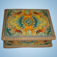 RARE Fabulous French Vernis Martin Sewing Box